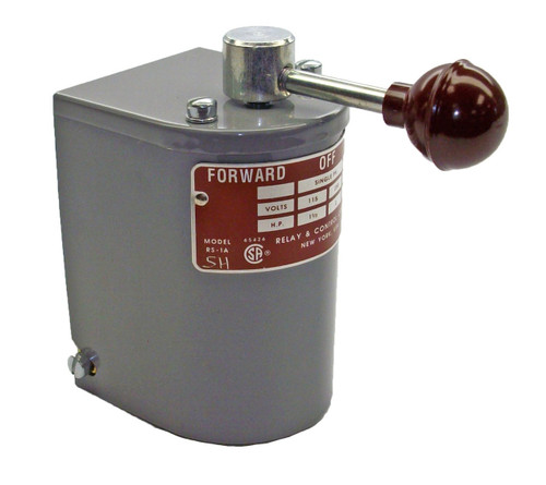 1.5 hp - 2 hp Electric Motor Reversing Drum Switch - Single Phase Only - Position = Maintained # RS-1A-SH