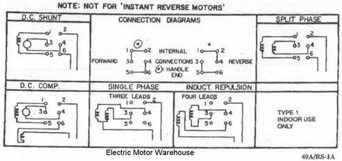 1 5 Hp - 2 Hp Electric Motor Reversing Drum Switch - Single Phase Only