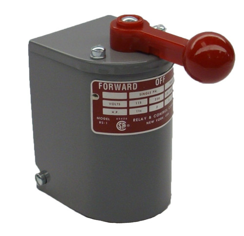 1.5 hp - 2 hp Electric Motor Reversing Drum Switch - Single Phase Only - Spring Returned # RS-1A-MP