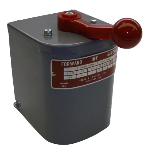 RS-2 Relay & Controls |1.5 hp - 2 hp Electric Motor Reversing Drum Switch - Position = Maintained