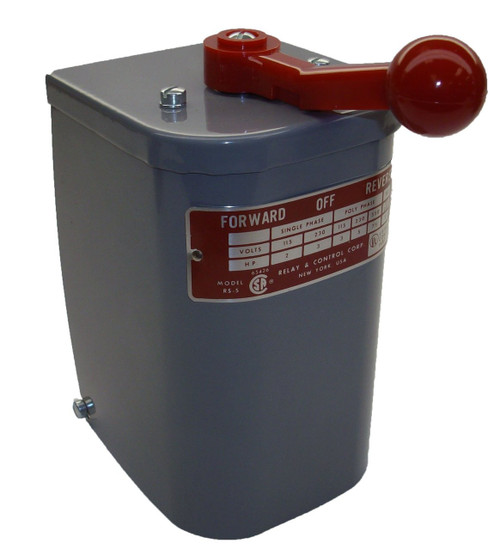 RS-5 Relay & Controls |2 hp - 3 hp Electric Motor Reversing Drum Switch -  Position = Maintained