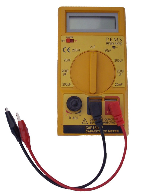 Digital Capacitor Tester for Electric Motor Capacitors Range 200pf to over 2000uf # CAP1500P