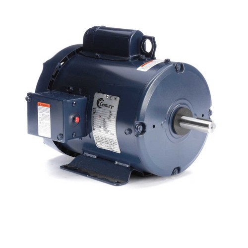 2 hp 1800 RPM 182TZ Frame (Farm Duty) 230/115V Century Electric Motor # K204M2