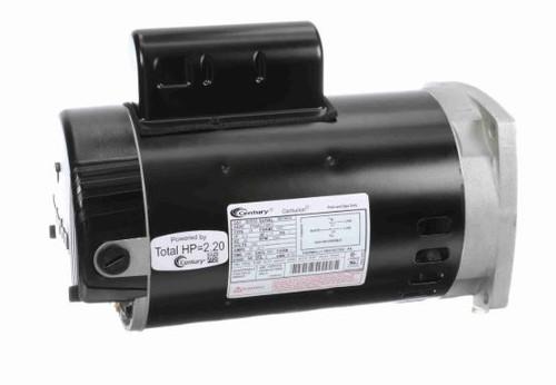 2 hp 3450 RPM 56Y Frame 230V Square Flange Pump Motor Century # B2855