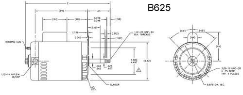 3/4 hp 3450 RPM 115/230V 56CZ Polaris Booster Pump Motor