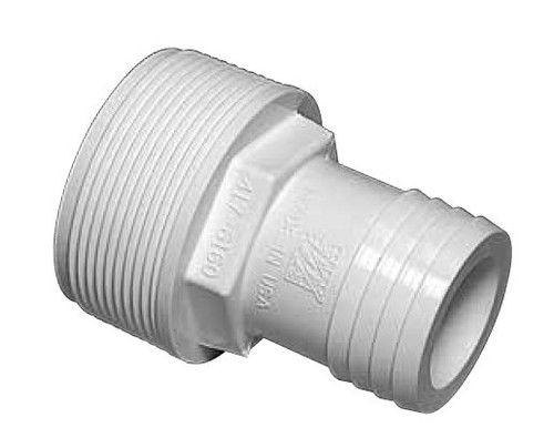 """1.5"""" PVC Straight Hose Adapter for Above Ground Pool Pump # 417-6060"""