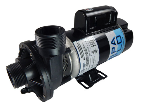 """1.5 hp 2-Speed 115V Waterway Spa Flo 1 1/2"""" Side Discharge 48 Frame 