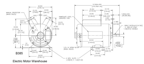 Ac Electric Motor Wiring Diagram Plate Emerson - Wiring ... on