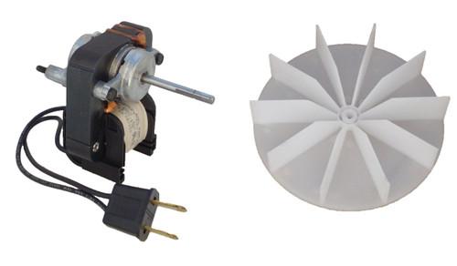 Universal Bathroom Fan Replacement Electric Motor Kit with Fan 115V # K1575