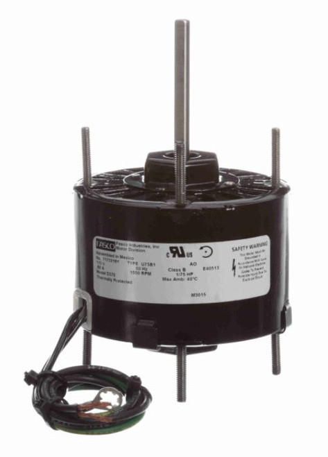 "Fasco D370 Motor | 1/75 hp 1550 RPM 115V 3.3"" Dia. CCW Rotation Nutone Bath Fan Motor"