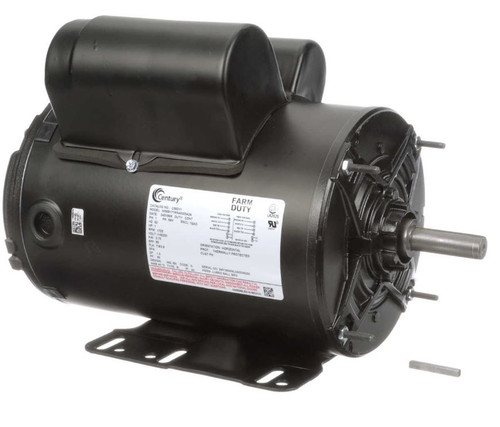 C582V1 Century 1 hp 1800 RPM 56 Frame 230/115V Farm Building Belted Fan Electric Motor