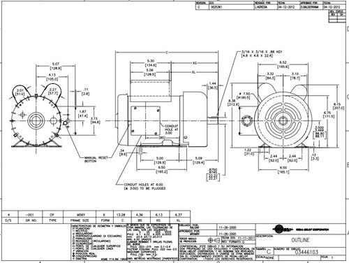 1.5 hp 1800 RPM M56Y Frame 230V Century Grain Stirring