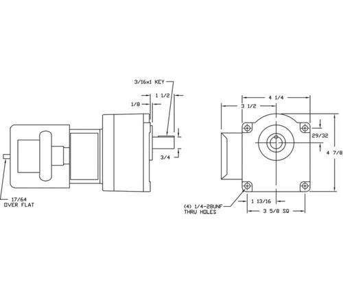 Dayton Model 1LPX4 Gear Motor 15 RPM 1/6 hp 115/230V (2H439)
