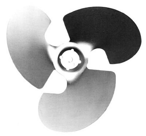 """Model 2256 Century Unit Bearing Aluminum Fan Blade 4 Watt, 7.75"""" Diameter, Suction # 2256"""