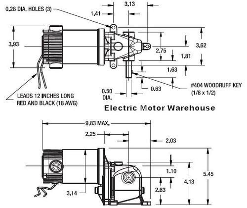 Dayton Model 1LRB2 DC Gear Motor 24 RPM 1/20 hp TENV 90VDC