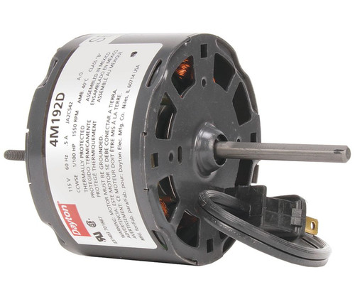 "1/100 hp, 1550 RPM, 115 Volt, 3.3"" diameter Dayton Electric Motor Model 4M192"