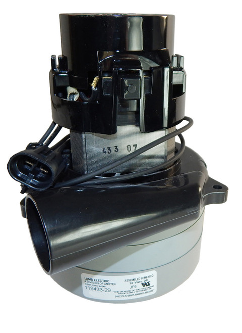 119433-29 Ametek Lamb Vacuum Blower Motor 24V DC (Advance 56397041)