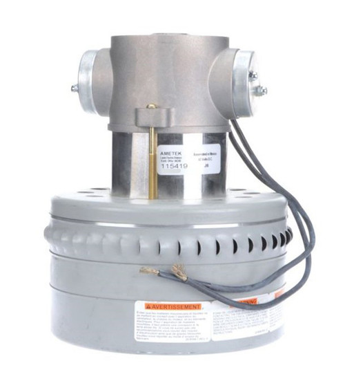 115419 Ametek Lamb Vacuum Blower / Motor 42V DC (Advance 56454335, Tennant 46690A)