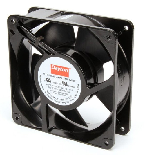 3VU65 Dayton Axial Fan 115 Volts AC; 14 Watts; 105 CFM;