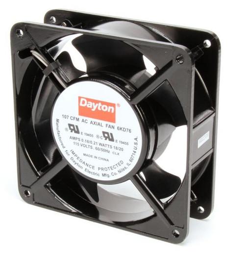 6KD76 Dayton Axial Fan 115 Volts AC; 18 Watts; 107 CFM;