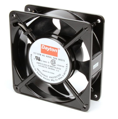 6KD75 Dayton Axial Fan 115 Volts AC; 20 Watts; 117 CFM;