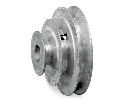 """4"""" Diameter - 3 Step Pulley 1/2"""" - 5/8"""" Fixed Bore - Die Cast by Congress"""