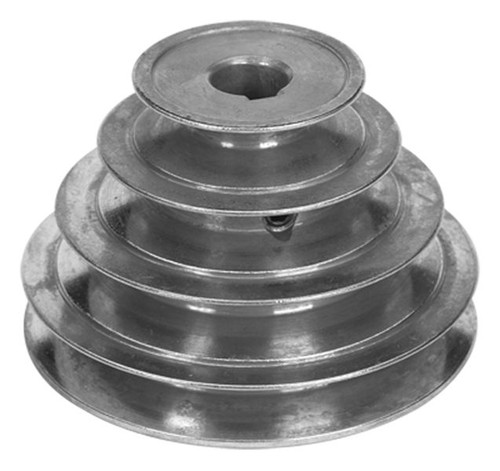 "5"" Diameter - 4 Step Pulley 1/2"" - 5/8"" Fixed Bore - Die Cast by Congress"