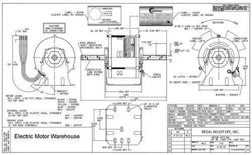 Century Brushless Hvac Dc Motor  1  10hp 120 Volt 3