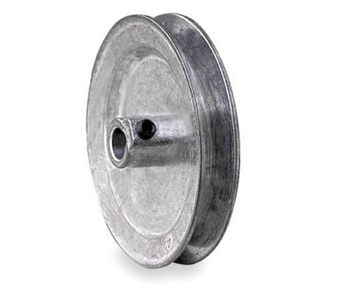 "3.25"" x 1/2"" Single Groove Fixed Bore Die Cast Pulley"