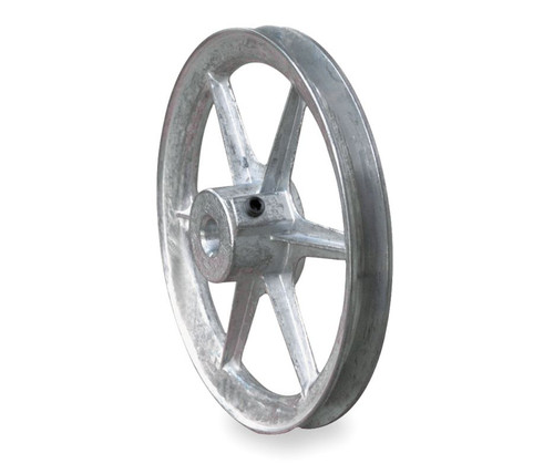 """6.00"""" x 1/2"""" Single Groove Fixed Bore Die Cast Pulley"""