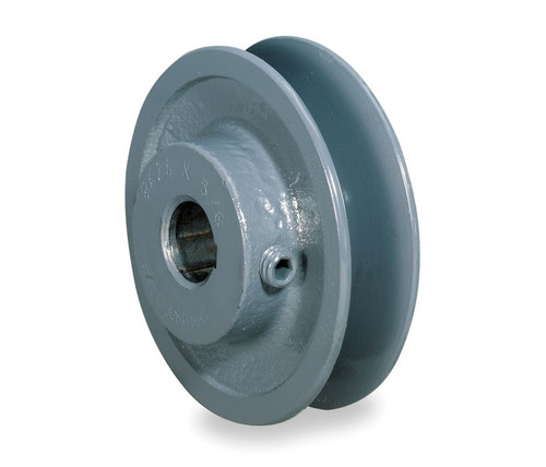 "AK41X1-1/8 Pulley | 3.95"" X 1-1/8"" Single Groove Fixed Bore ""A"" Pulley"