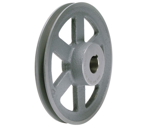 "AK61X1 Pulley | 5.95"" X 1"" Single Groove Fixed Bore ""A"" Pulley"