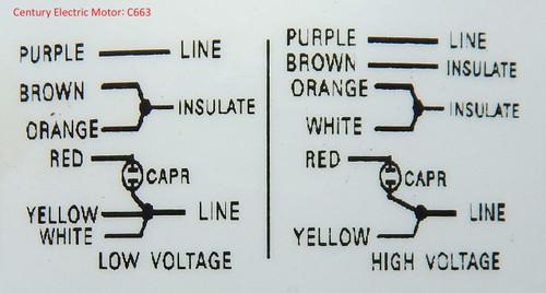 liebert condenser motor 3 4 hp 1100 rpm 208 230 460v century c663Century Condenser Wiring 3 Sd #13