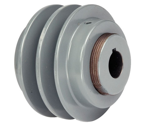 "2VP56X1-1/8 Pulley | 5.35"" x 1-1/8"" 2-Groove Vari-Speed V Groove Pulley / Sheave"