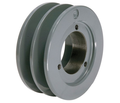 """4.75"""" OD Double Groove """"H"""" Pulley (bushing not included) # 2BK50H"""