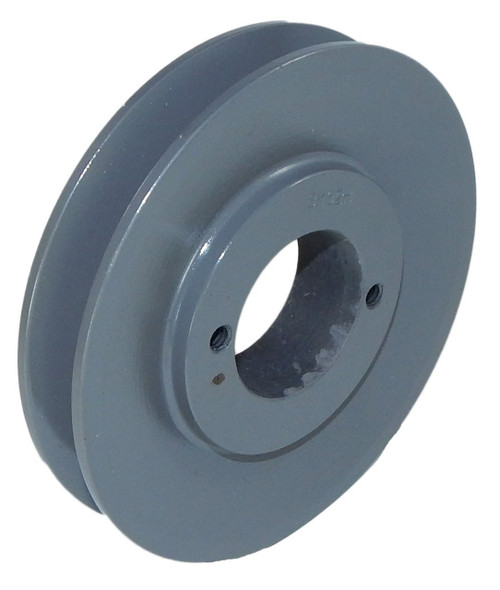 "1-3V265-JA Pulley | 2.65"" OD Single Groove Pulley / Sheave for 3V Style V-Belt (bushing not included)"