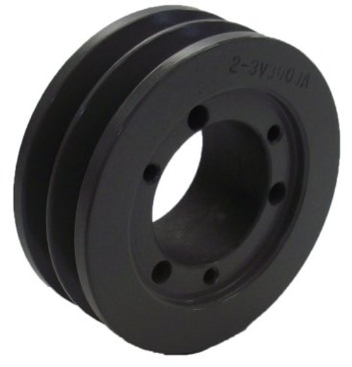"2-3V1400-SK Pulley | 14.00"" OD Double Groove Pulley / Sheave for 3V Style V-Belt (bushing not included)"