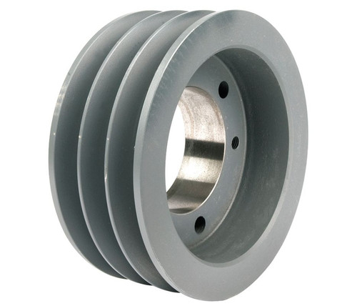 "3-3V412-SH Pulley | 4.12"" OD Three Groove Pulley / Sheave for 3V V-Belt (bushing not included)"