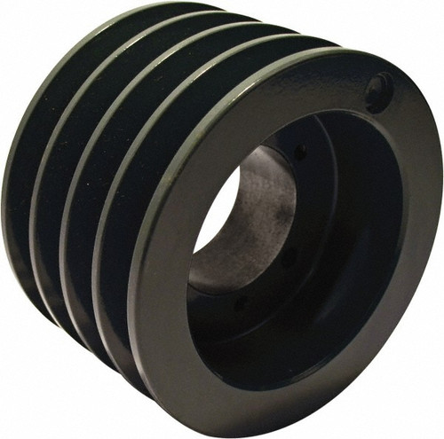 "4-3V335-SH Pulley | 3.35"" OD Four Groove Pulley / Sheave for 3V Style V-Belt (bushing not included)"