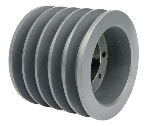 "5-3V500-SDS Pulley | 5.00"" OD Five Groove Pulley / Sheave for 3V Belt (bushing not included)"