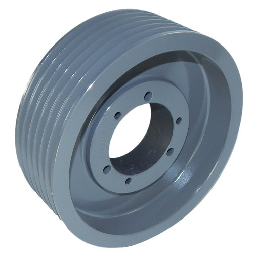 "6-3V500-SK Pulley | 5.00"" OD Six Groove Pulley / Sheave for 3V Style V-Belt (bushing not included)"