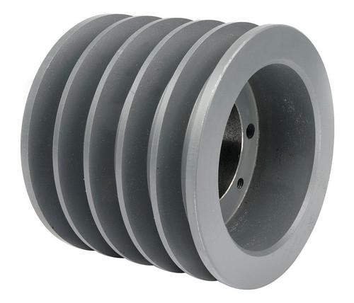 "5-5V520-SD Pulley | 5.20"" OD Five Groove Pulley / Sheave for 5V V-Belt (bushing not included)"