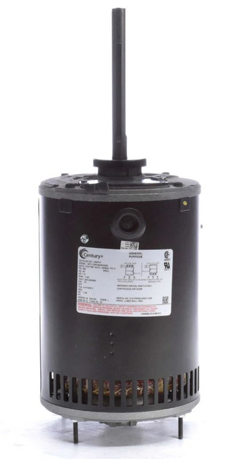 "H667V1 Century Condenser Fan Motor 6 1/2"" Dia, 1 hp, 1140 RPM 460/200-230V Three Phase"