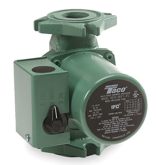 Taco Hot Water Circulator Pump 3-Speed Model 0010-MSF1-1iFC 115V