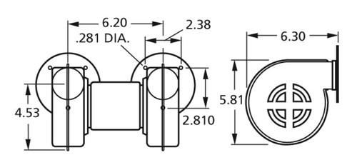 Centrifugal Blower 115 Volts Fasco # 50746-D500