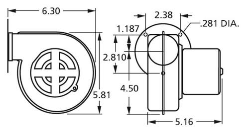 Centrifugal Blower 115 Volts Fasco # 50747-D401