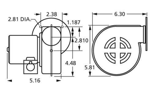 Centrifugal Blower (7021-2373, 7021-4735) 115 Volts Fasco