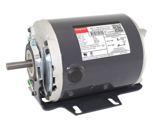3K384 Dayton 1/3 hp 1725 RPM 115V Whole House Fan Motor