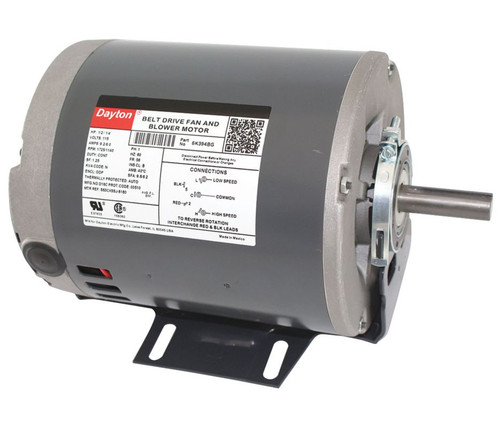 6K394 Dayton 1/2 hp 1725 RPM 2-speed 115V Whole House Fan Motor