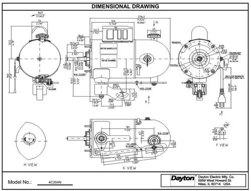 Oscillating Pedestal Fan Motor 2-Speed Motor 1/4hp 1075